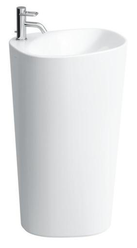 Laufen Palomba Gulvstående Servant 53x44 cm Hvit m/Armaturhull, overløp og LCC (rengjøringsvennlig overflate)