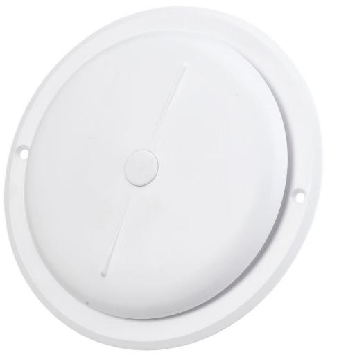 Duka Tallerkenventil - Ø 117 mm, hvit