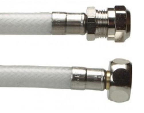 Fleksibel tilslutningsslange til armaturer 10mm x 1/2 - 500 mm.