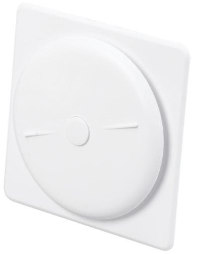 Duka Tallerkenventil - Ø 121 mm stuss, hvit