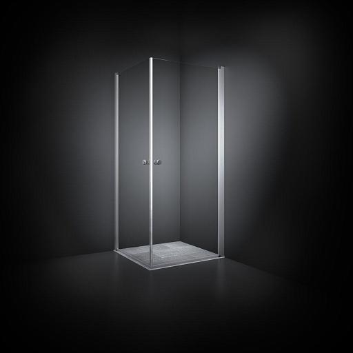 Dansani Match Dusjhjørne 70 x 70 cm, Klart glass/Satin profil - Model 1