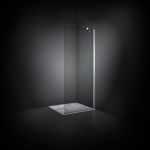 Dansani Match Dusjvegg 97-99 cm, Klart glass/Satin profil - Model 18