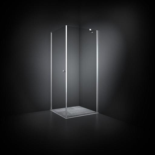 Dansani Match Dusjhjørne 70 x 70 cm, Klart glass/Satin profil - Model 12