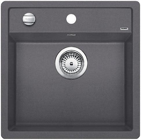 Blanco Dalago 5 MX Kjøkkenvask 51,5x51 cm m/kurvventil, Silgranit Klippegrå