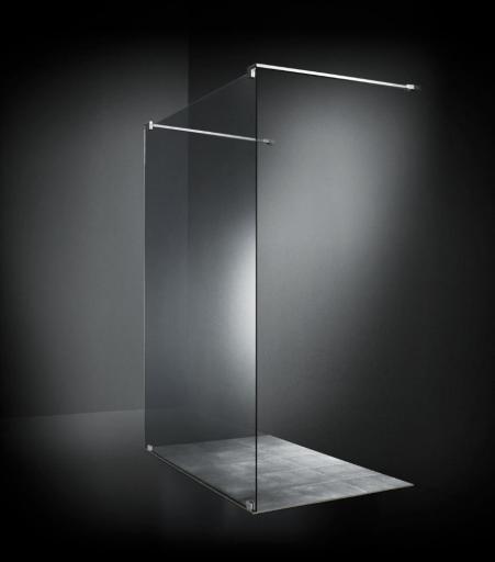 Dansani AIR 3302 Walk in m/Gulvbeslag 80 x 140 cm, Klart glass/Krom profil
