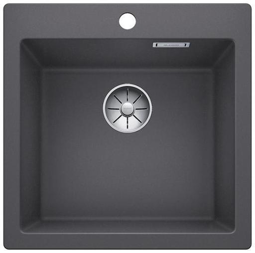 Blanco Pleon 5 UXI Kjøkkenvask 51,50x51 cm m/InFino Kurvventil, Silgranit Klippegrå