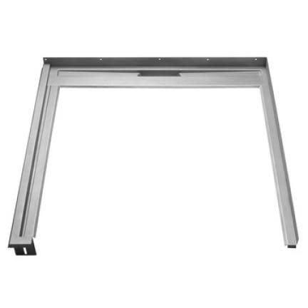 Unidrain Glassline Fast modul m/90 cm avløp, til 90 cm glassvegg - Venstrestilt
