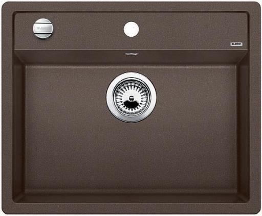 Blanco Dalago 6 MX, Kjøkkenvask 61,5x51 cm, m/kurvventil, Silgranit Kaffe