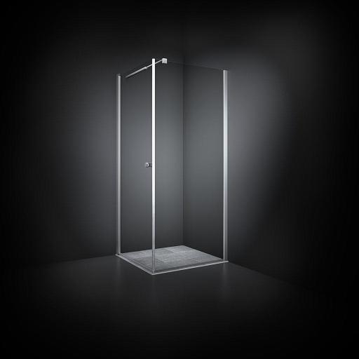 Dansani Match Dusjhjørne 70 x 70 cm, Klart glass/Satin profil - Model 10