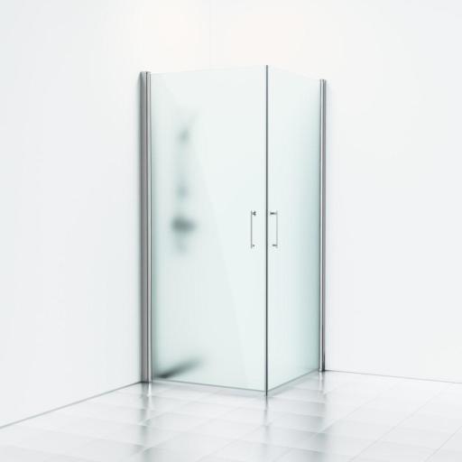 Svedbergs Forsa Dusjhjørne 80x80 cm, Matte profiler & frost glass
