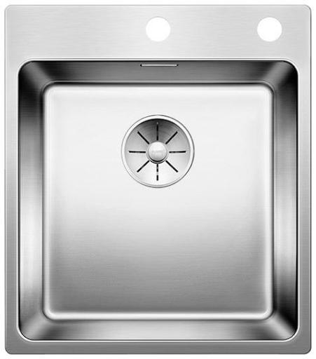 Blanco Andano 400-IF/A MXI Kjøkkenvask 44x50 cm m/InFino kurvventil, Rustfritt stål