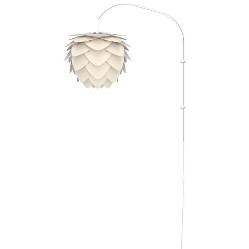 UMAGE Aluvia Medium Vegglampe med hvitt stativ, Perlemor
