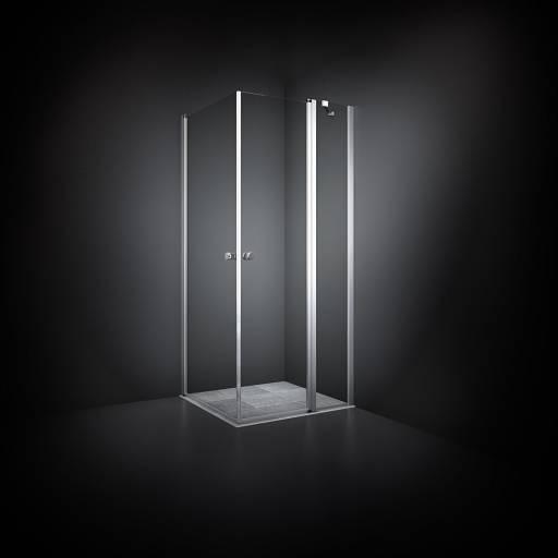 Dansani Match Dusjhjørne 70 x 100 cm, Klart glass/Satin profil - Model 3