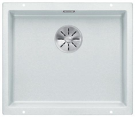 Blanco Subline 500-U UXI Kjøkkenvask 53x46 cm m/InFino kurvventil, Silgranit Hvit