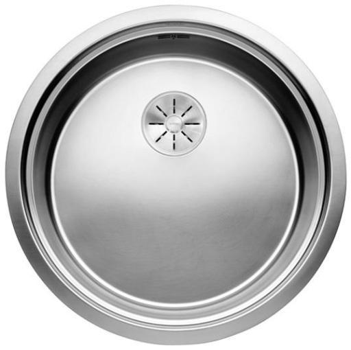 Blanco Ronis-U UXI Kjøkkenvask Ø53 cm m/InFino Kurvventil, Rustfritt Stål
