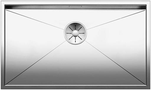 Blanco Zerox 700-IF/N UXI Kjøkkenvask 74x44 cm m/InFino kurvventil, Rustfritt Stål