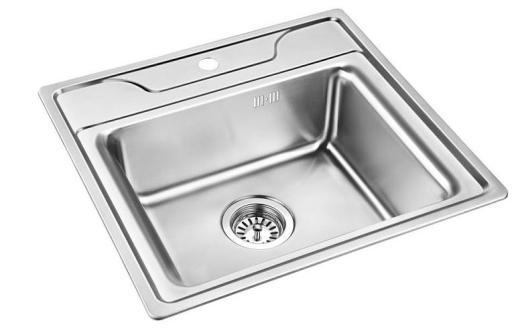 Prisma Tulsa Kjøkkenvask 54,0x51,0 cm, m/kurvventil, Rustfritt stål