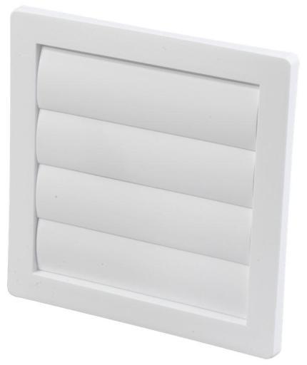 Duka Lamellventil - 150x150 mm, hvit - til murgjennomføring