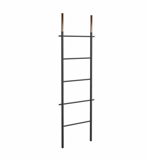 Frost Bukto Ladder Håndklestativ 58x151,5 cm, Sort/Kobber