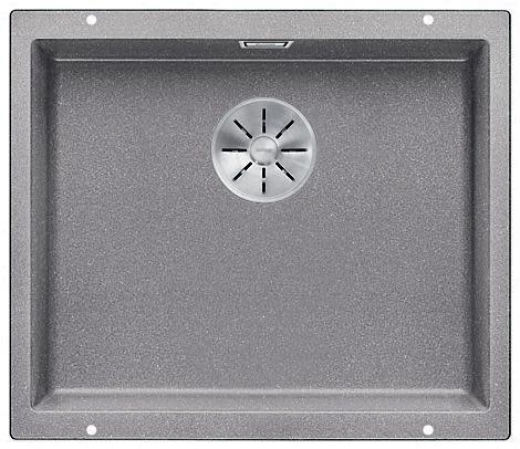 Blanco Subline 500-U UXI Kjøkkenvask 53x46 cm m/InFino kurvventil, Silgranit Aluminium