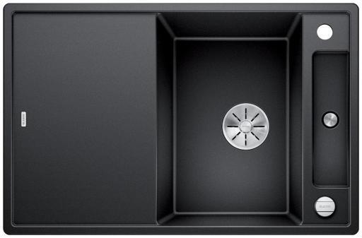 Blanco Axia 45S MXI Kjøkkenvask 78x51 m/InFino kurvventil, Silgranit Antrasittgrå