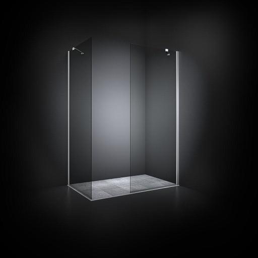 Dansani Match Walk in 97-99 cm pr. vegg, Klart glass/Satin profil - Model 20