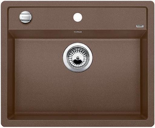 Blanco Dalago 6 MX, Kjøkkenvask 61,5x51 cm, m/kurvventil, Silgranit Muskat