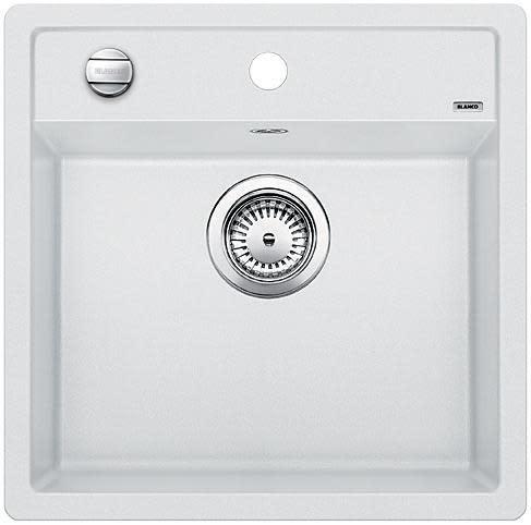 Blanco Dalago 5 MX Kjøkkenvask 51,5x51 cm m/kurvventil, Silgranit Hvit
