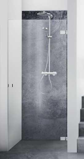 Dansani AIR 3401 høyrehengt svingdør 70 cm, Klart glass/Krom profil