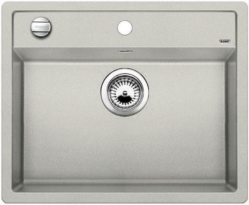 Blanco Dalago 6 MX, Kjøkkenvask 61,5x51 cm, m/kurvventil, Silgranit Perlegrå