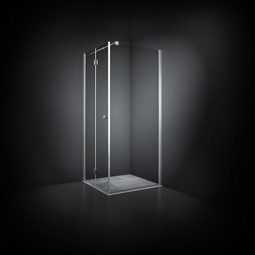 Dansani Match Dusjhjørne 70 x 70 cm, Klart glass/Satin profil - Model 11