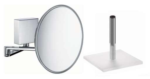HeFe Sam kosmetikkspeil m/LED Lys, Vegg-/Bordmodell x 5 (Oppladbart Batteri)