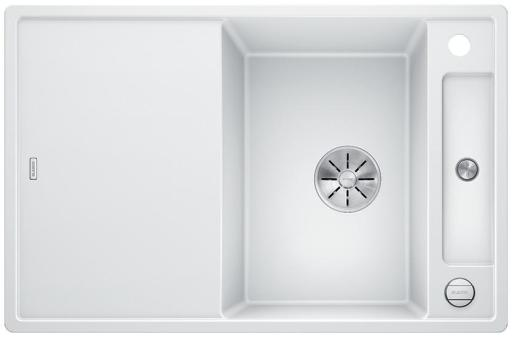 Blanco Axia 45S MXI Kjøkkenvask 78x51 m/InFino kurvventil, Silgranit Hvit