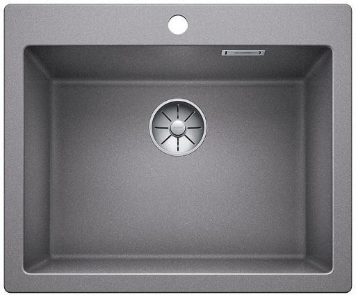 Blanco Pleon 6 UXI Kjøkkenvask 61,50x51 cm m/InFino Kurvventil, Silgranit Aluminium