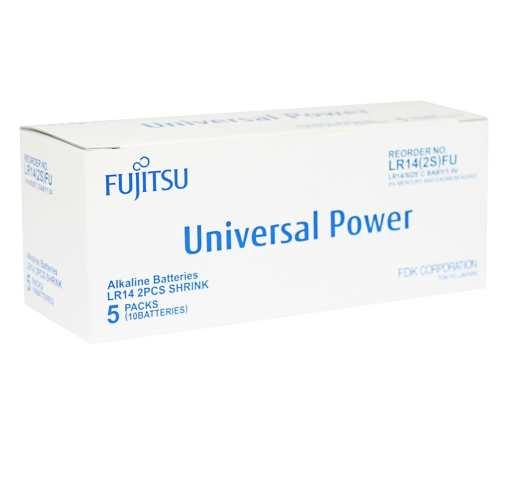 Fujitsu Univeral Power C Alkaline Batterier - 10 stk.