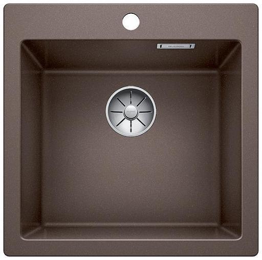 Blanco Pleon 5 UXI Kjøkkenvask 51,50x51 cm m/InFino Kurvventil, Silgranit Kaffe