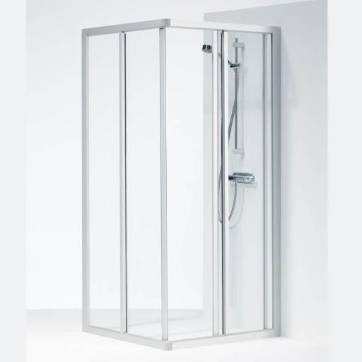 Ifö Solid dusjhjørne SVH 70X90x195 cm, Klart Glass / Alu Profil