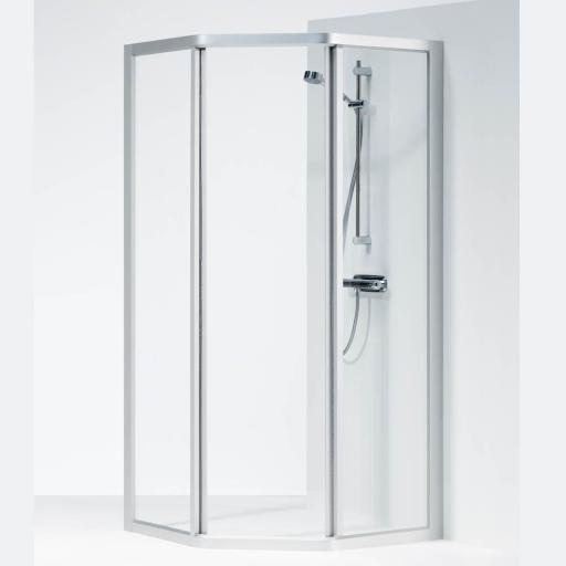 Ifö Solid dusjhjørne SVP 90x70x195 cm, Klart Glass / Alu Profil