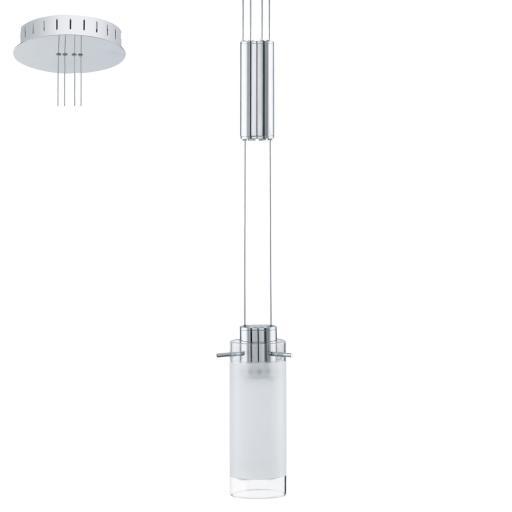 Eglo Aggius Pendel 6W LED, Krom/hvit
