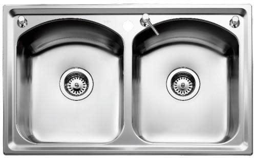 Intra Mega IME80 Kjøkkenvask 80,4x50 cm, m/Kurvventil, Rustfritt stål