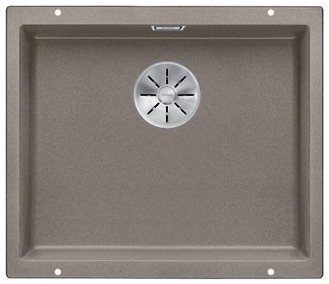 Blanco Subline 500-U UXI Kjøkkenvask 53x46 cm m/InFino kurvventil, Silgranit Trøffel