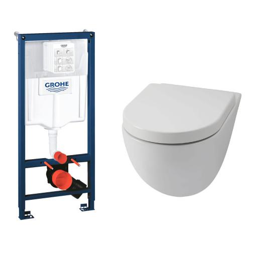 Komplett pakke m/GROHE sisterne, Lavabo File toalettskål og Slim sete med soft close, uten betjeningsplate