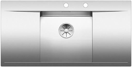 Blanco Flow 45S-IF Kjøkkenvask 100x51 cm m/PushControl & InFino kurvventil, Rustfritt Stål