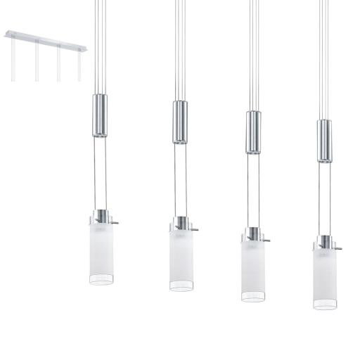 Eglo Aggius 4-pendel 4x6 LED, Krom/hvit