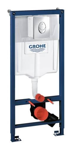 GROHE Rapid SL indbygningscisterne 113 cm inkl.  Skate Air trykknappe, Krom