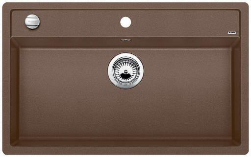 Blanco Dalago 8 MX Kjøkkenvask 81,5x51 cm, m/kurvventil, Silgranit Muskat