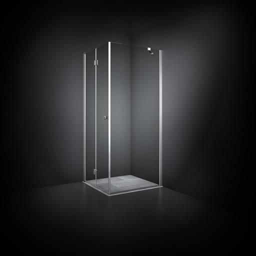 Dansani Match Dusjhjørne 70 x 70 cm, Klart glass/Satin profil - Model 13