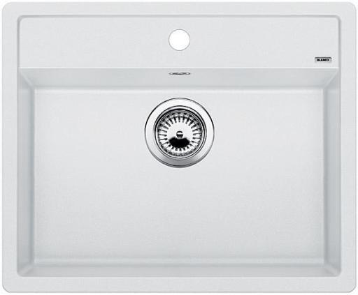 Blanco Dalago 6 UX, Kjøkkenvask 61,5x51 cm, m/kurvventil, Silgranitt Hvit