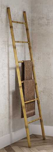 HeFe Panda Håndklestativ stige 50x190 cm, Bambus
