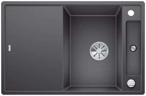 Blanco Axia 45S MXI Kjøkkenvask 78x51 m/InFino kurvventil, Silgranit Klippegrå